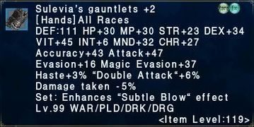 Sulevia's gauntlets +2