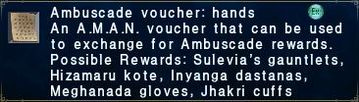Ambuscade voucher: hands